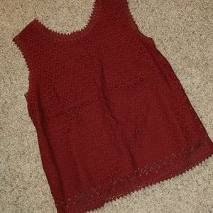 NWT! Cranberry Lace Tank